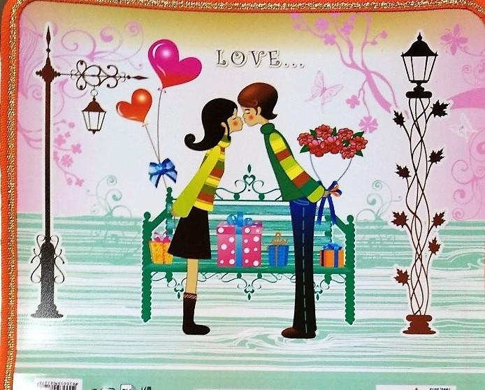 "Папка на молнии ""Полимер"" А5 №460513 ""Love"""