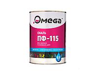 Эмаль алкидная, RAL 9003-белая, 0,9кг OMEGA ПФ-115 ГОСТ