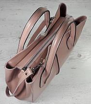 53-2 Натуральная кожа Сумка женская кожаная розовая сумка Сумка из натуральной кожи розовая Женская сумка, фото 2