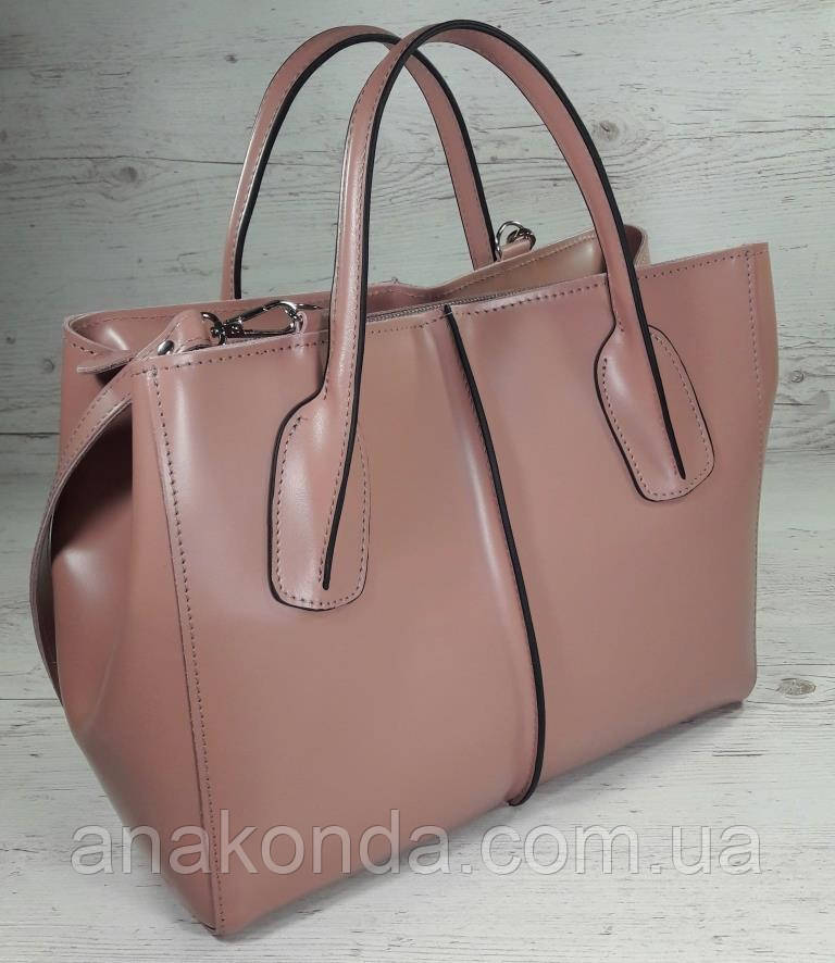53-2 Натуральная кожа Сумка женская кожаная розовая сумка Сумка из натуральной кожи розовая Женская сумка