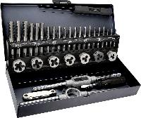 Набор 14A426 Topex метчики и плашки, комплект из 32 шт. в металлическом кейсе