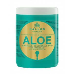 Kallos Aloe Shine Увлажняющая маска для восстановления блеска волос с экстрактом алоэ вера, 1000 мл