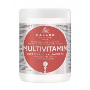 Kallos KJMN Multivitamin Энергетическая мультивитаминная маска для волос, 1000 лм