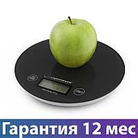 Весы кухонные Esperanza EKS003K Black, электронные весы для кухни, електронні кухонні ваги