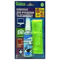Биолонг (Biolong) - средство для экранов мобильных устройств (флакон + микрофибра), 50 мл