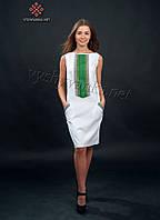 Белое платье вышиванка летнее, арт. 1003