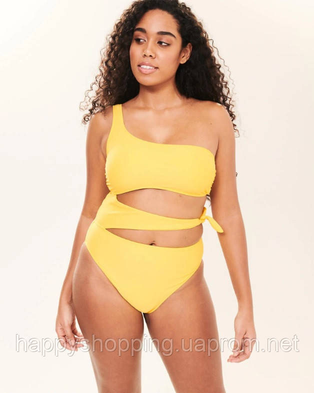 Женский сдельный желтый купальник  Abercrombie & Fitch, фото 1