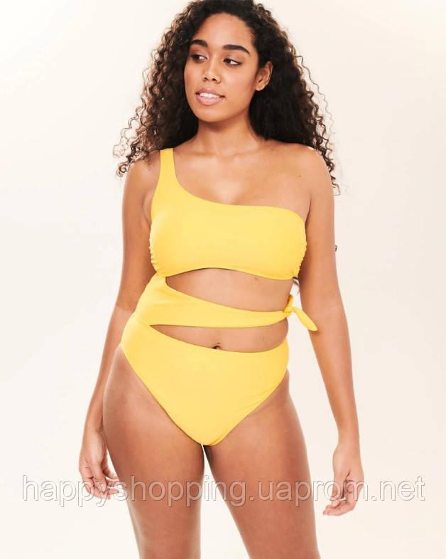 Женский сдельный желтый купальник  Abercrombie & Fitch