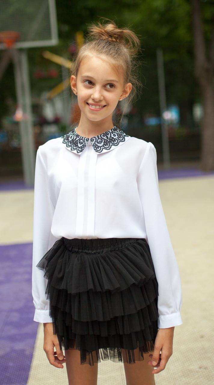 Блузка Свит блуз  с кружевным воротником мод. 8025 р.164