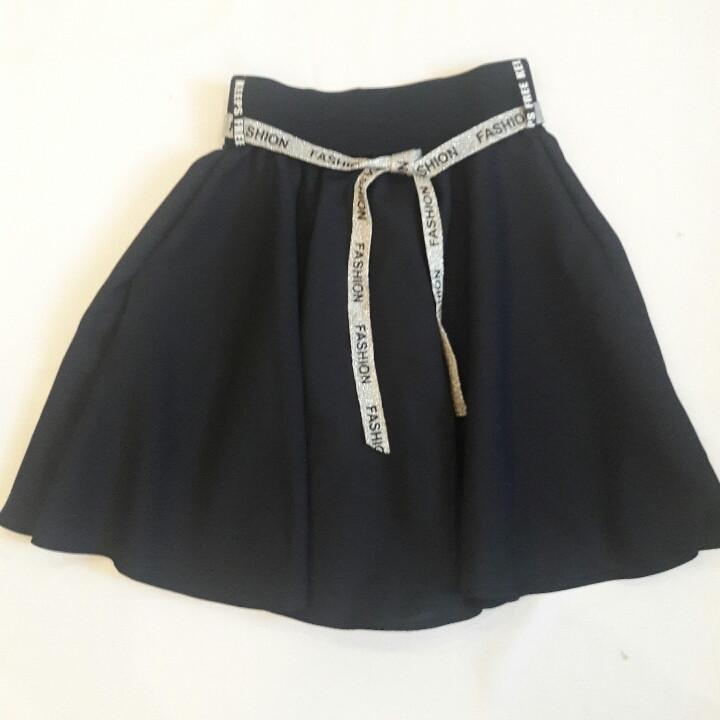 """Стильная школьная юбочка для девочки  """"Серебристый пояс"""""""