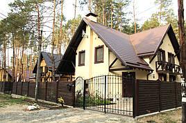 Мы разработали проект коттеджа на 2 семьи в Киевской области.  2 квартиры с подвалом по 150м2. Общая площадь 300м2.