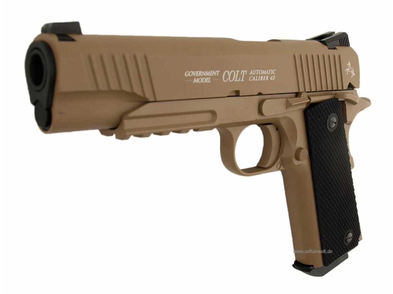 Пневматический пистолет Umarex Colt M45 CQBP FDE
