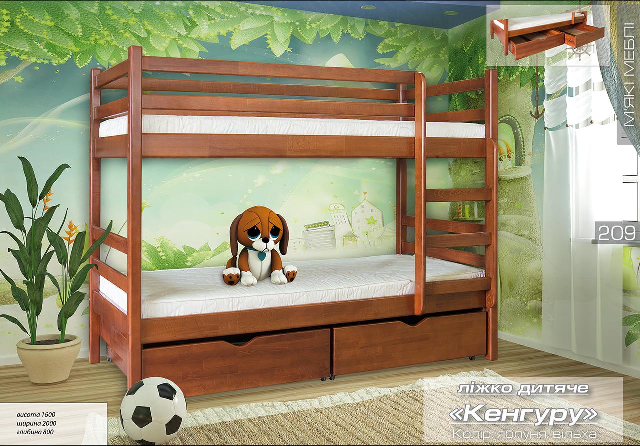 Детская двухъярусная кровать кенгуру. Цвет может быть изменён под заказ    - Интернет-магазин  в Киеве