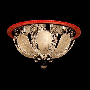 """Люстра """"торт"""" на 4 лампочки с LED подсветкой на пульте управления СветМира VL-2369/400/4"""