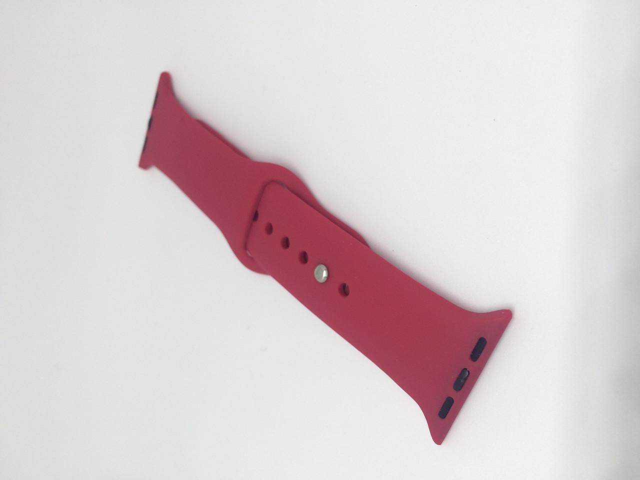 Ремешок для Apple Watch 40/38mm Sport Band №36 (Темно-розовый)
