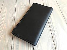 Портмоне мужское кожаное Goose™ Classic черный (кожаный кошелек), фото 2