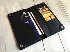 Портмоне мужское кожаное Goose™ Classic черный (кожаный кошелек), фото 3