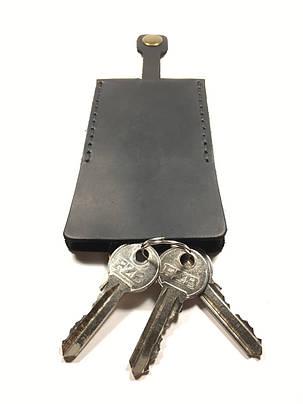 Ключница кожаная для ключей Goose™ Classic черный (чехол для ключей), фото 2