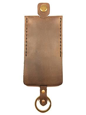 Чехол для ключей кожаный Goose™ Classic коричневый (ключница для ключей), фото 2