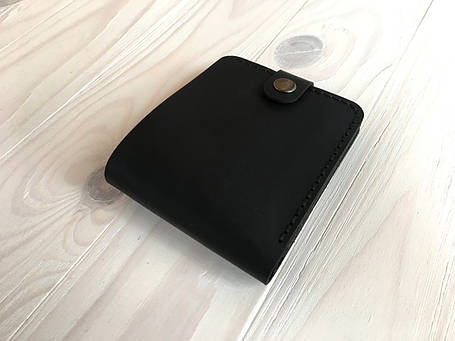 Женский кожаный кошелек Goose™ Montis черный с монетницей, фото 2