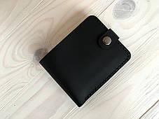 Женский кожаный кошелек Goose™ Montis черный с монетницей, фото 3