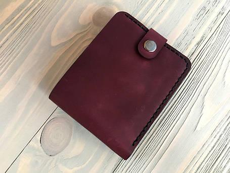 Мужской кожаный кошелек Goose™ Montis марсала с монетницей, фото 2