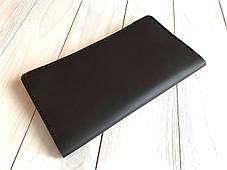 Портмоне ручной работы из натуральной кожи Goose™ Сlassic Zipper коричневый (тревел-кейс), фото 2