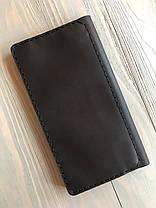 Портмоне ручной работы из натуральной кожи Goose™ Сlassic Zipper коричневый (тревел-кейс), фото 3