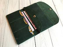 Женское кожаное портмоне Goose™ G0012 зеленый (тревел-кейс, кошелек), фото 2