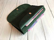 Женское кожаное портмоне Goose™ G0012 зеленый (тревел-кейс, кошелек), фото 3