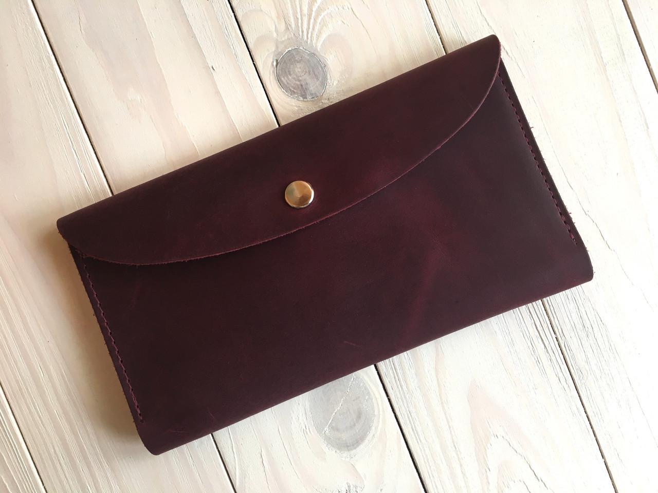 Тревел-кейс женский Goose™ G0013 натуральная кожа бордовый (кошелек, портмоне)