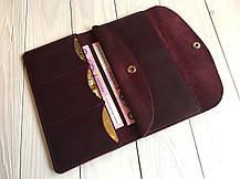 Тревел-кейс женский Goose™ G0013 натуральная кожа бордовый (кошелек, портмоне), фото 2