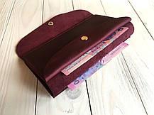 Тревел-кейс женский Goose™ G0013 натуральная кожа бордовый (кошелек, портмоне), фото 3