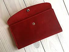Портмоне кожаное женское Goose™ G0014 натуральная кожа красный (кошелек, тревел-кейс), фото 2