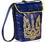 Женская сумка-рюкзак Alba Soboni 141630 синяя с желтым, фото 2