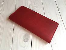 Кожаный тревел-кейс для авиабилетов Goose™ G0016 красный (портмоне), фото 2