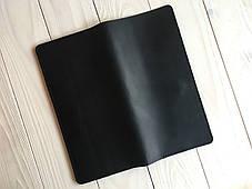 Мужское кожаное портмоне-тревелер Goose™ G0019 черный (холдер для документов), фото 2