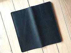 Кожаное портмоне-тревелер для билетов Goose™ G0021 голубой (холдер для документов), фото 2