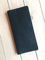 Кожаное портмоне-тревелер для билетов Goose™ G0021 голубой (холдер для документов), фото 3