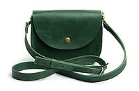 Женская мини сумка на плечо Goose™ G0022 зеленая, натуральная кожа