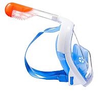 Маска оригинальная для Снорклинга Easybreath (маска подводного плавания с трубкой с панорамным обзором) синяя