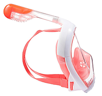 Маска для Снорклинга Easybreath (маска подводного плавания с трубкой с панорамным обзором) розовая