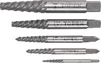 Набор 14A110 Topex экстракторы для высверливания сломанных винтов
