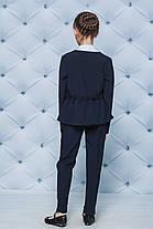 Школьная форма для девочки пиджак и брюки темно-синий, фото 3