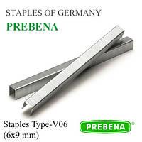 Скоба PREBENA тип-V 6х9 мм обивочная, мебельная