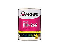 Эмаль алкидная OMEGA ПФ-266 для пола, красно-коричневая, 0,9л