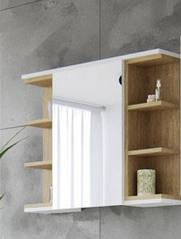 Шкафчик навесной Lotos / Лотос Белая платина / дуб каменный