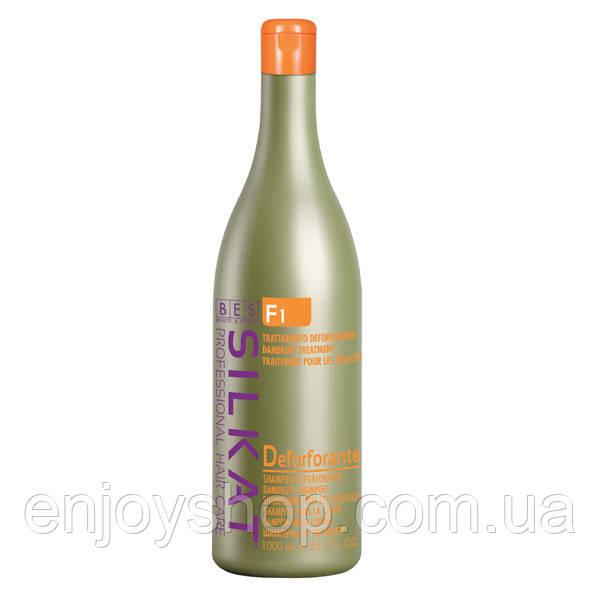 Активный ШАМПУНЬ от перхоти для всех типов волос SILKAT(Италия) 1000 мл