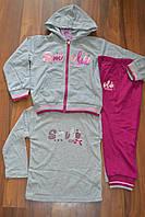 Трикотажные спортивные костюмы тройки для девочек.Размеры 1-5.Фирма TAURUS, фото 1