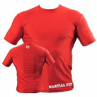 Компрессионная мужская футболка для занятий спортом Berserk Sport красный